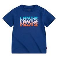 Textil Chlapecké Trička s krátkým rukávem Levi's 9EC826-U29 Tmavě modrá