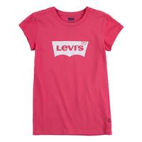 Textil Dívčí Trička s krátkým rukávem Levi's BATWING TEE SS Růžová