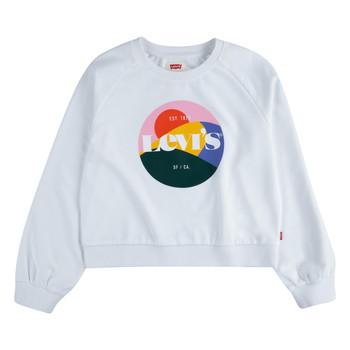 Textil Dívčí Mikiny Levi's 3ED410-001 Bílá