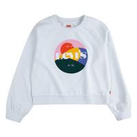 Textil Dívčí Mikiny Levi's 4ED410-001 Bílá