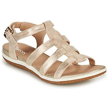Boty Ženy Sandály Geox D SANDAL VEGA A Zlatá