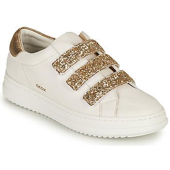 Boty Ženy Nízké tenisky Geox D PONTOISE C Bílá / Zlatá