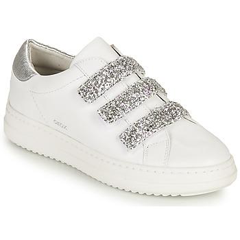 Boty Ženy Nízké tenisky Geox D PONTOISE C Bílá / Stříbrná