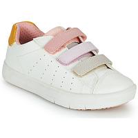 Boty Dívčí Nízké tenisky Geox SILENEX GIRL Bílá / Růžová / Béžová