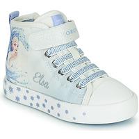 Boty Dívčí Kotníkové tenisky Geox JR CIAK GIRL Bílá / Modrá