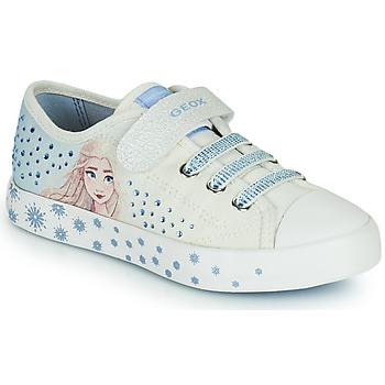 Boty Dívčí Nízké tenisky Geox JR CIAK GIRL Bílá / Modrá