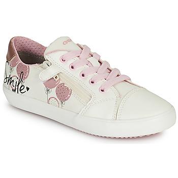 Boty Dívčí Nízké tenisky Geox GISLI GIRL Bílá / Růžová