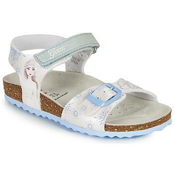 Boty Dívčí Sandály Geox ADRIEL GIRL Bílá / Modrá