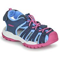 Boty Dívčí Sportovní sandály Geox BOREALIS GIRL Modrá / Růžová
