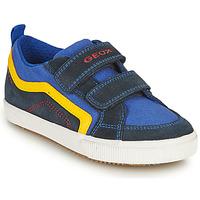Boty Chlapecké Nízké tenisky Geox ALONISSO BOY Tmavě modrá / Žlutá