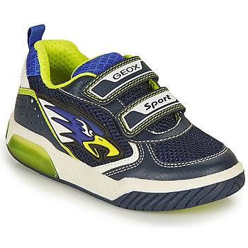 Boty Chlapecké Nízké tenisky Geox INEK BOY Tmavě modrá / Žlutá