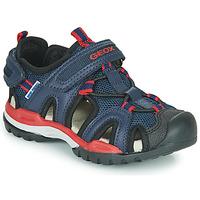 Boty Chlapecké Sportovní sandály Geox BOREALIS BOY Tmavě modrá / Červená