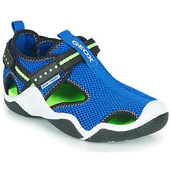 Boty Chlapecké Sportovní sandály Geox JR WADER Modrá / Zelená