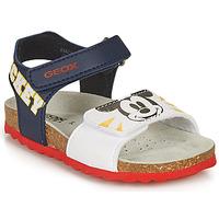 Boty Chlapecké Sandály Geox SANDAL CHALKI BOY Tmavě modrá / Bílá