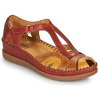 Boty Ženy Sandály Pikolinos CADAQUES W8K Červená / Béžová