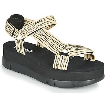 Boty Ženy Sandály Camper ORUGA UP Černá / Béžová