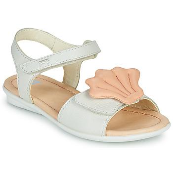 Boty Dívčí Sandály Camper TWINS Růžová / Bílá