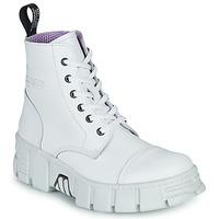 Boty Kotníkové boty New Rock M-WALL005-C1 Bílá