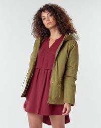 Textil Ženy Kabáty Deeluxe LINA Khaki