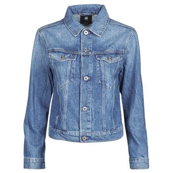 Textil Ženy Riflové bundy G-Star Raw 3301 Straight Dnm Jkt Wmn Modrá