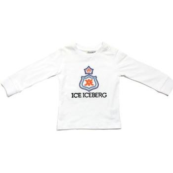 Textil Chlapecké Trička s dlouhými rukávy Iceberg TSICE0316B Bílá