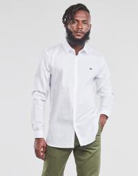 Textil Muži Košile s dlouhymi rukávy Lacoste PITTA Bílá