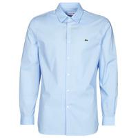 Textil Muži Košile s dlouhymi rukávy Lacoste PITTA Modrá