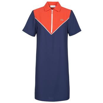 Textil Ženy Krátké šaty Lacoste FRITTI Červená / Modrá