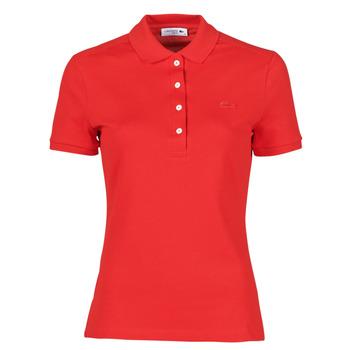 Textil Ženy Polo s krátkými rukávy Lacoste POLO SLIM FIT Červená
