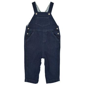 Textil Chlapecké Overaly / Kalhoty s laclem Petit Bateau MILIBERT Modrá