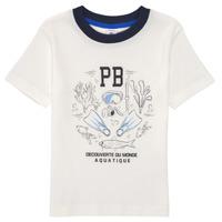 Textil Chlapecké Trička s krátkým rukávem Petit Bateau MARCO Bílá