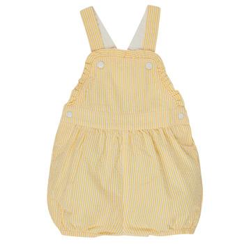 Textil Dívčí Overaly / Kalhoty s laclem Petit Bateau MERINE Žlutá
