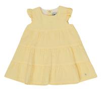 Textil Dívčí Krátké šaty Petit Bateau MERINGUE Žlutá