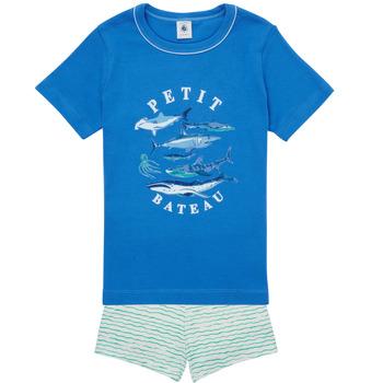 Textil Chlapecké Pyžamo / Noční košile Petit Bateau MAYONNAISE