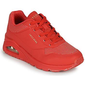 Boty Ženy Nízké tenisky Skechers UNO STAND ON AIR Červená
