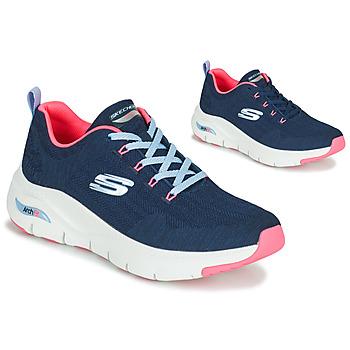 Boty Ženy Nízké tenisky Skechers ARCH FIT Tmavě modrá / Růžová