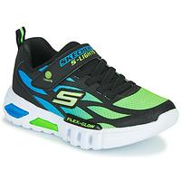 Boty Chlapecké Nízké tenisky Skechers FLEX-GLOW Černá / Modrá / Zelená