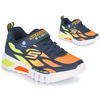 Boty Chlapecké Nízké tenisky Skechers FLEX-GLOW Tmavě modrá / Oranžová