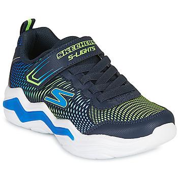 Boty Chlapecké Nízké tenisky Skechers ERUPTERS IV Tmavě modrá / Zelená