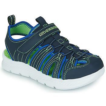 Boty Chlapecké Sportovní sandály Skechers C-FLEX SANDAL 2.0 Tmavě modrá / Zelená