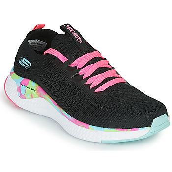 Boty Dívčí Nízké tenisky Skechers SOLAR FUSE Černá / Růžová