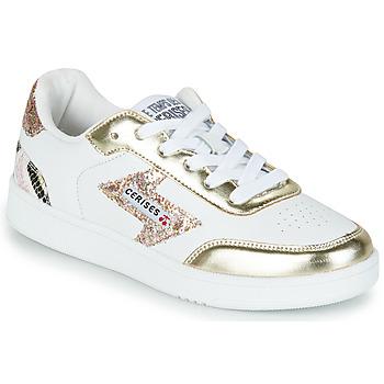 Boty Ženy Nízké tenisky Le Temps des Cerises FLASH Bílá / Zlatá