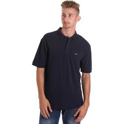 Textil Muži Polo s krátkými rukávy Les Copains 9U9015 Modrý