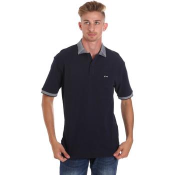 Textil Muži Polo s krátkými rukávy Les Copains 9U9024 Modrý