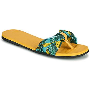 Boty Ženy Žabky Havaianas YOU SAINT TROPEZ Žlutá / Zlatá