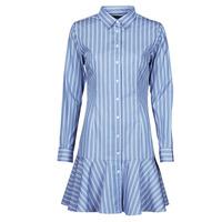 Textil Ženy Krátké šaty Lauren Ralph Lauren TRIELLA Modrá / Bílá
