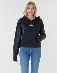 Textil Ženy Mikiny Vans WM OVAL TEEN HOODIE Černá
