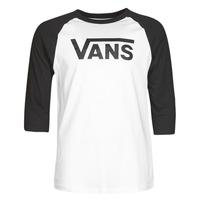 Textil Muži Trička s dlouhými rukávy Vans VANS CLASSIC RAGLAN Bílá / Černá