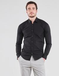 Textil Muži Košile s dlouhymi rukávy BOTD OMAN Černá
