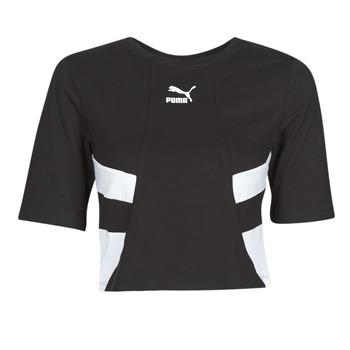 Textil Ženy Trička s krátkým rukávem Puma RETRO FROPnTOP Černá